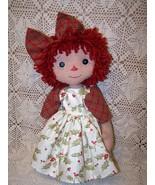 Primitive Raggedy Abby Folk Art Doll Pattern Bz - $11.95