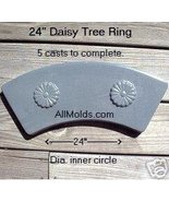 Daisy Tree Ring concrete plaster cement stone mold - $22.00