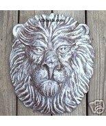 Lion concrete plaster cement wall plaque mold - $35.00