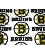 Boston Bruins NHL cotton fabric scrap remnant crafts - $9.99