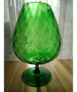 1950's Venetian/Murano Blown Green Glass Lattic... - $68.00