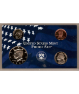 1999 S U.S. Mint Clad Proof Set 4 coin encased - $7.00