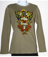 Harley Davidson Olive Green Waffle Knit Shirt L... - $39.00