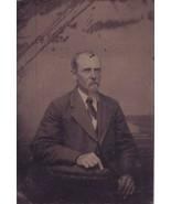 Antique Tintype Photo of Man Tin Photograph Gen... - $11.90