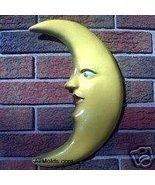 Quarter Moon concrete plaster cement plaque mold - $22.00