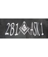 Masonic Freemason 2B1 Window/Bumper sticker NEW - $5.00