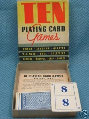 Ten Playing Card Games   Whitman No  3941