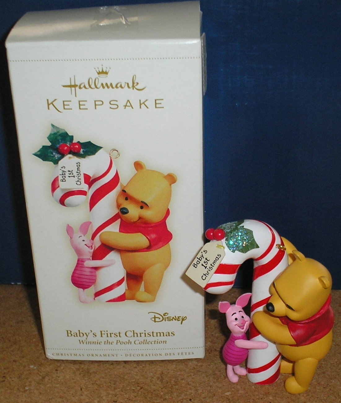 Winnie The Pooh Baby's 1st Christmas Ornament - New in Box