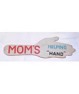 Vintage Wood Spanking Paddle - MOM's HELPING HAND - $25.00