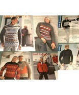 Filati No.2 Mens 25 Knitting Patterns Aran Ski ... - $11.00