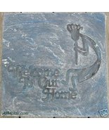 Welcome Kokopelli concrete cement stepping ston... - $26.95