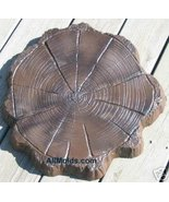 Log End concrete plaster cement stepping stone ... - $26.95