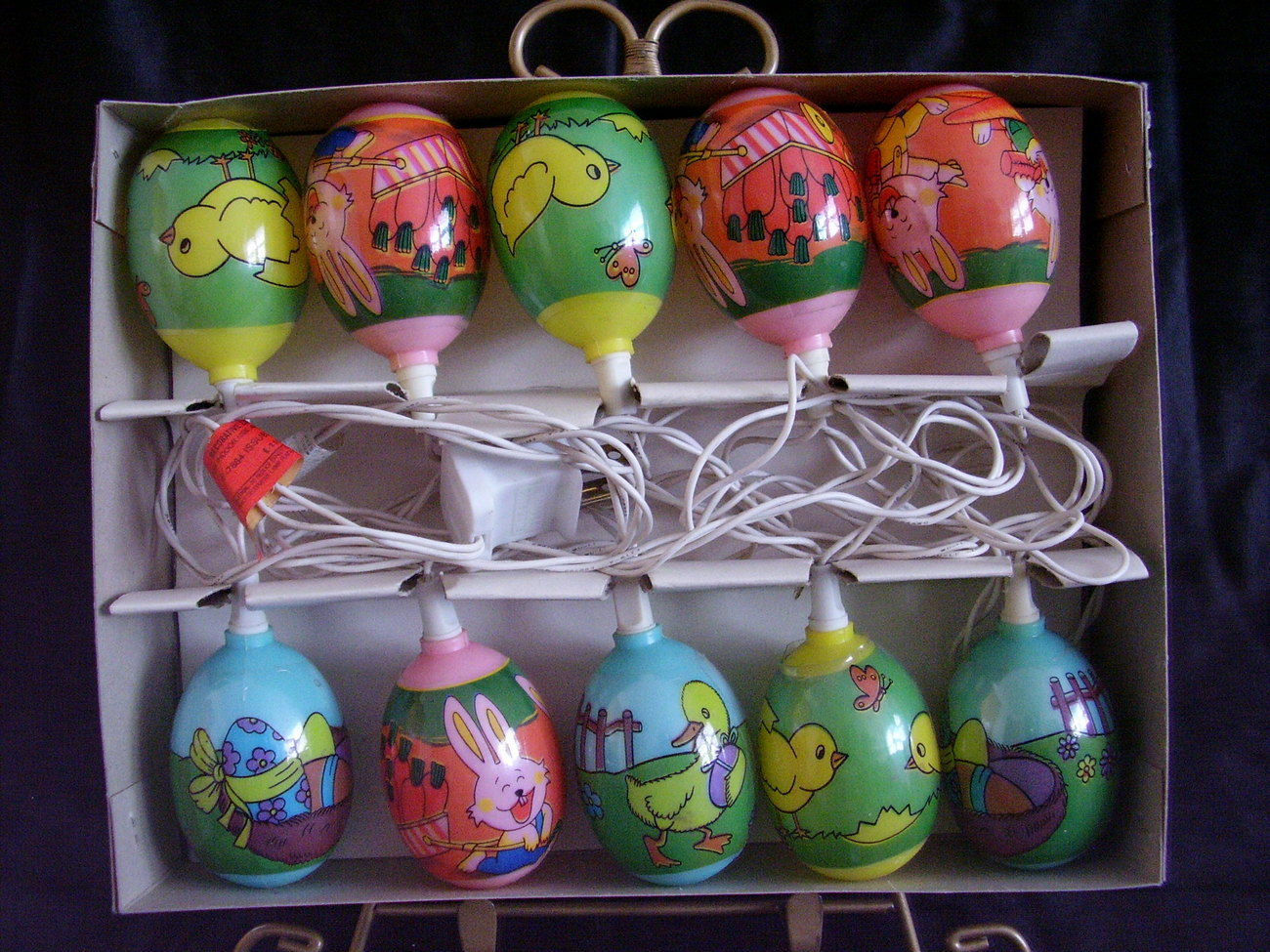 Easter Egg Decorated Mini Lights Indoor Outdoor 10 Lights  B