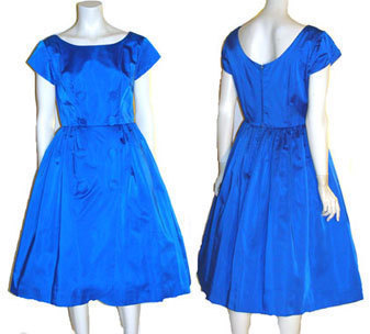 1950s Vintage Rockabilly Full Skirt Dress from bonanza.com