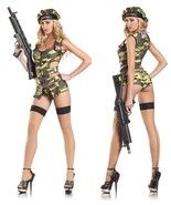 Sexy 3PC Army Brat Camo Brat Adult Halloween Co... - $59.99