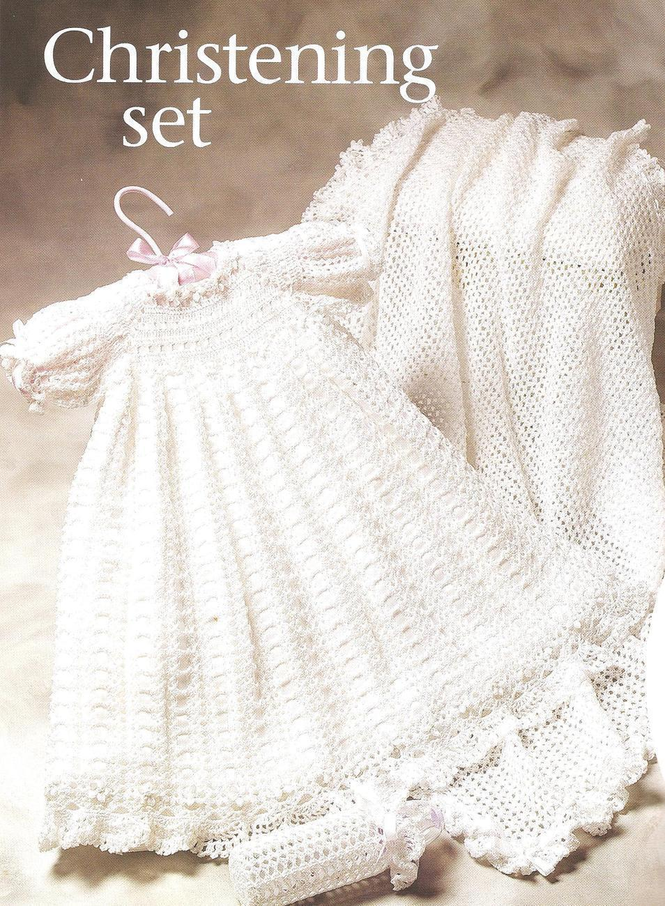 Free Knitting Pattern Baby Christening Gown : FREE CROCHET CHRISTENING GOWN PATTERNS   Crochet For Beginners