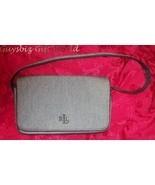 Ralph Lauren Black Linen Designer Bag MINT - $50.93