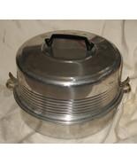 Vintage Regal Quality Aluminum Cake and Pie Carrier 3 Piece 1950's - $17.99