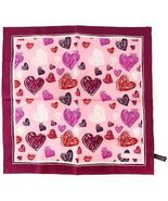 Authentic Coach Heart Scarf 100% Silk Pink 97179 - $69.99