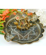 Vintage Brass Damascene Spanish Dragon Galleon ... - $18.95