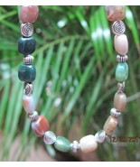 Hand crafted  Fancy Jasper squares and silver necklace