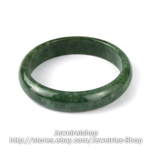 Type A Genuine Natural Green Jadeite Jade Bangle 58.8mm