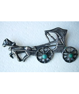 Vintage Sterling Silver Horse & Carriage Brooch... - $35.00