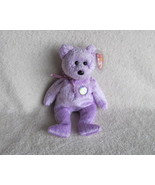 Ty Beanie Babies Baby Decade the Bear Purple Re... - $5.00