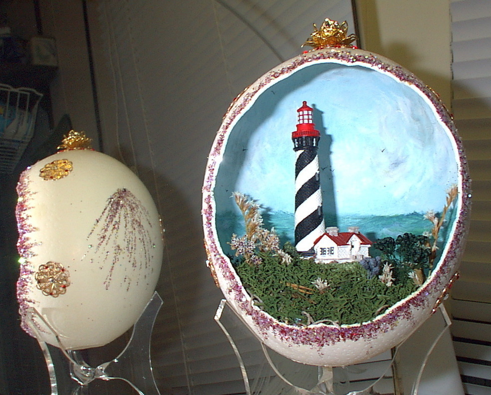 Decorated Ostrich Egg Collectible St. Augustine FL