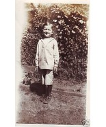 Vintage Photograph Boy in Short pant set Very OLD - $6.00