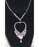 Silver Heart with Heart and bead charms