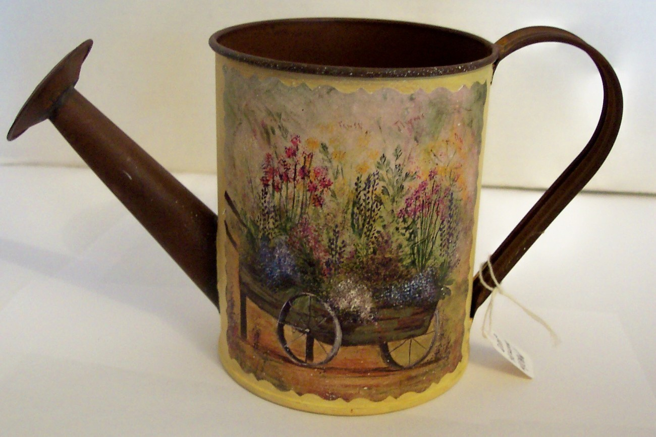 Folk art painted watering cans on pinterest watering cans narrowboat and galvanized metal - Unusual watering cans ...