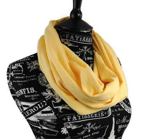 Infinity Scarf Light Daffodil Yellow Jersey Circle