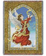 70x54 Crimson Red ANGEL Religious Tapestry Afgh... - $49.95