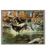 50x60 Deer Buck Wildlife Tapestry Throw Afghan ... - $42.50
