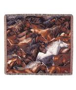 50x60 Horse Western Tapestry Throw Afghan Blanket - $42.50