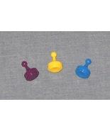 Clue Game Pieces - Plum, Mustard, Peacock - pla... - $3.25