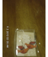 Red and Orange Enamel Dove Earrings Handmade - $11.99