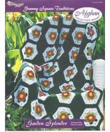 Garden Splendor Afghan~Granny Square Crochet Pa... - £1.37 GBP