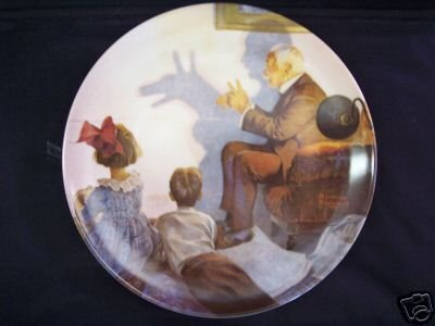 SHADOW ARTIST Norman Rockwell Collector Plate