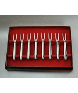 Vintage Kalmar Designs Stainless Steel Forks Italy Box of 8 - $12.99