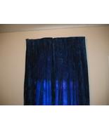 Vintage Blue Crushed Velvet Drapes Retro long M... - $120.00