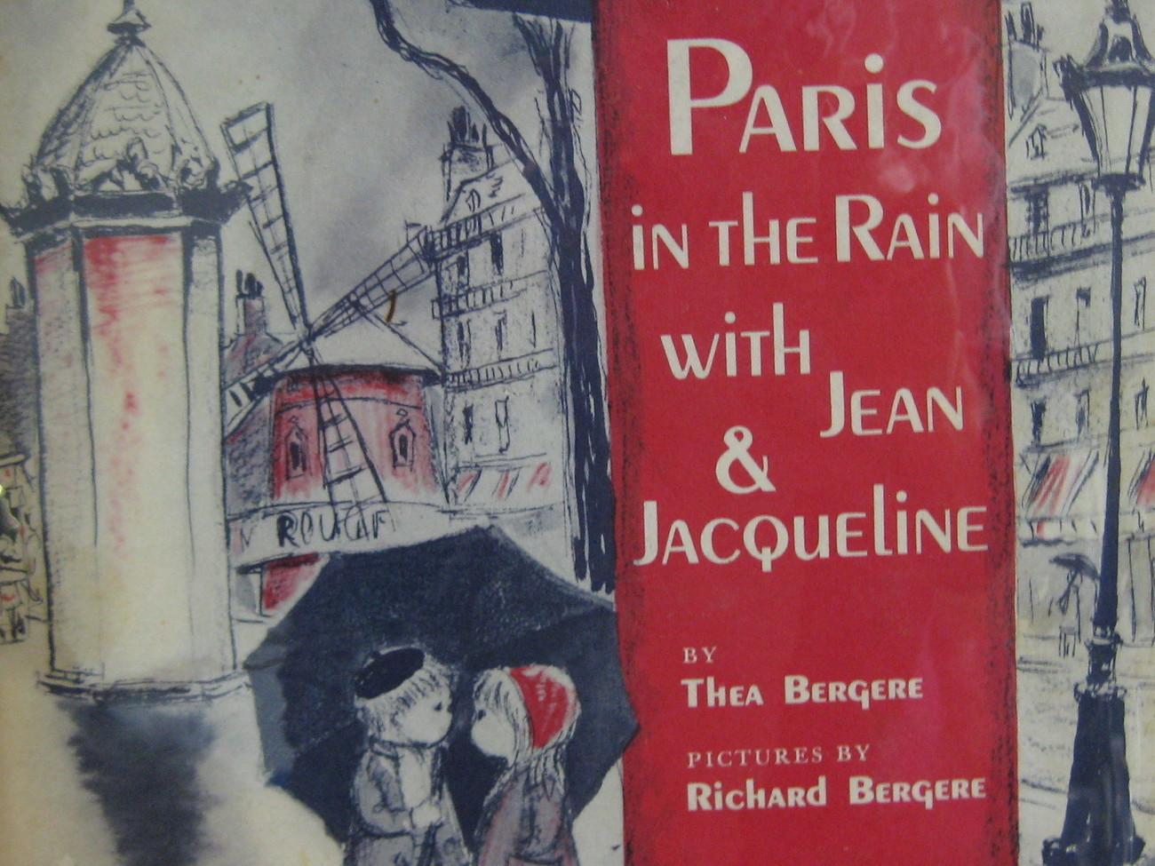 paris in the rain with jean jacqueline thea bergere hc dj vintage childrens children 39 s books. Black Bedroom Furniture Sets. Home Design Ideas