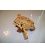 Carved Wood Frog Novelty Toy Noisemaker  - $9.59
