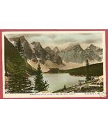 Moraine Lake Alberta Ten Peaks Spalding HC RPPC... - $7.00