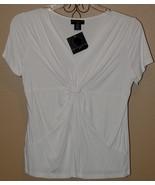 Ladies white knit Blouse Size Large P ~ New~ - $13.95