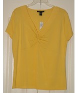 August Silk Yellow Blouse size X Large ~ New ~ - $14.00
