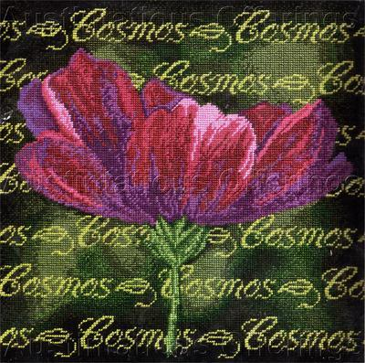 Rare Cosmos Sampler Needlepoint Pillow Kit Summer Floral