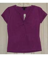 August Silk Purple Blouse size X Large ~ New ~ - $15.00