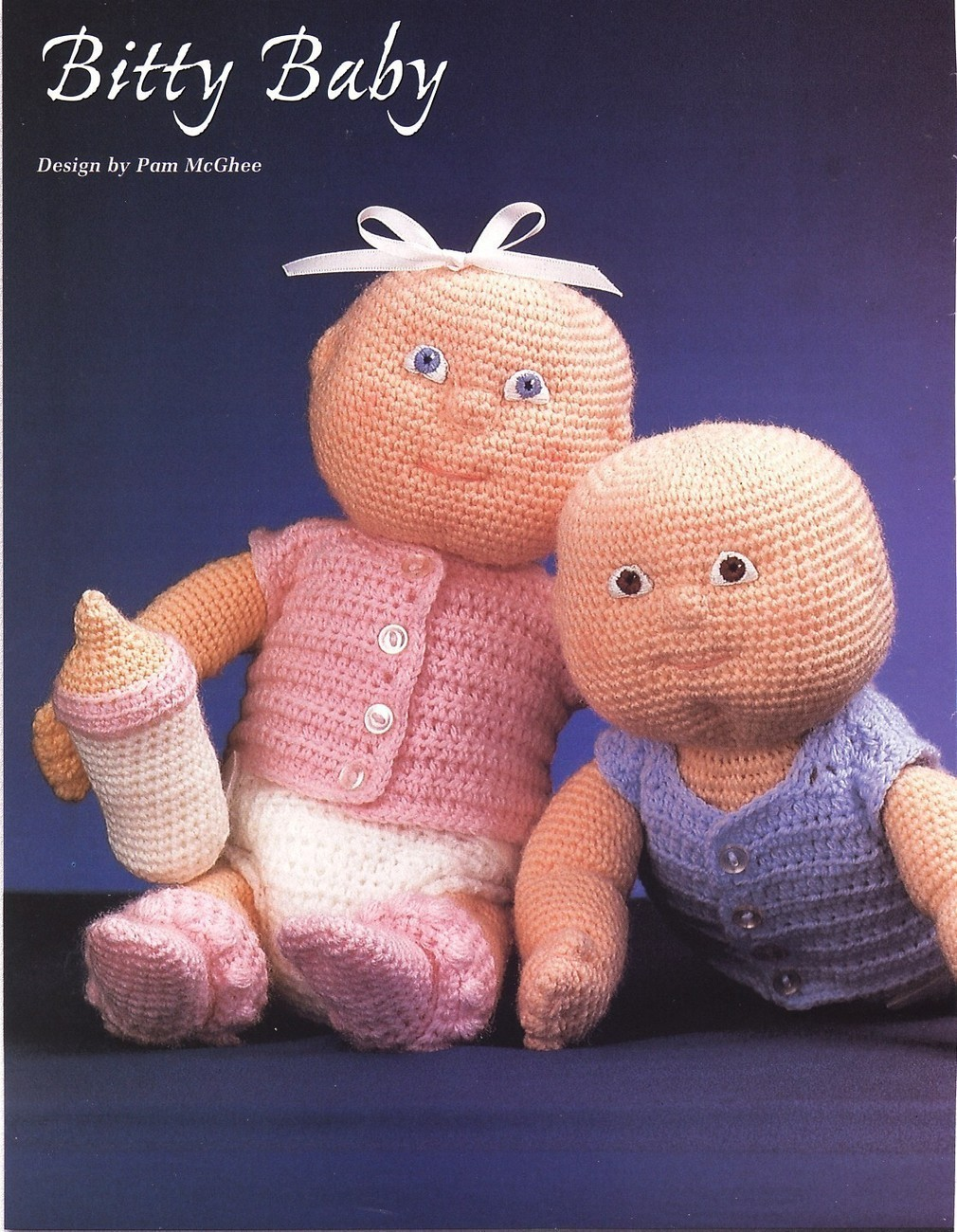 Bitty Baby Doll Crochet Patterns Soft Sculpture 12 In Tall ...